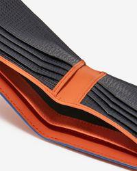 Ted Baker - Orange Rubber-look Leather Bi-fold Wallet for Men - Lyst
