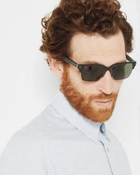 Ted Baker - Black Printed Arm Sunglasses for Men - Lyst