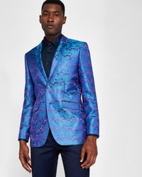 f0a90bff6dd9 Ted Baker Pashion Paisley Dinner Jacket in Blue for Men - Lyst