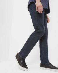 Ted Baker - Blue Mini Design Trousers for Men - Lyst