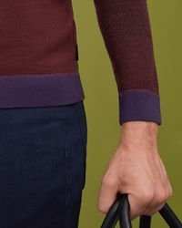 Ted Baker Purple Merino Wool Sweater for men