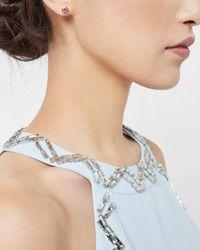 Ted Baker - Pink Crystal Stud Earrings - Lyst
