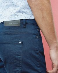 Ted Baker - Blue Straight Fit Jeans for Men - Lyst