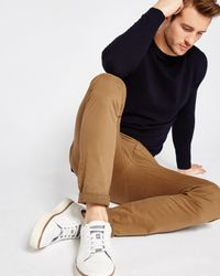 Ted Baker Multicolor Tapered Fit Cotton Chinos for men