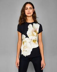 Ted Baker - Blue Gardenia Fitted T-shirt - Lyst
