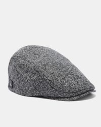Ted Baker Wool-blend Flat Cap in Gray for Men - Lyst 3bd3c106a88e