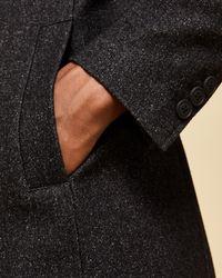 Ted Baker - Multicolor Funnel Neck Wool-blend Coat for Men - Lyst