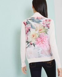 Ted Baker - Multicolor Painted Posie Wrap Cardigan - Lyst