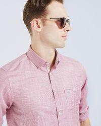 Ted Baker - Black Round Frame Sunglasses for Men - Lyst