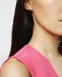 Ted Baker - Metallic Crystal Stud Earrings - Lyst