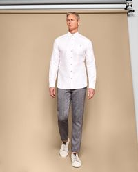 Ted Baker - White Linen Shirt for Men - Lyst