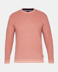 Ted Baker - Pink Textured Stitch Sweater for Men - Lyst
