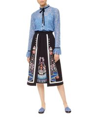 Temperley London - Blue Eclipse Lace Shirt - Lyst