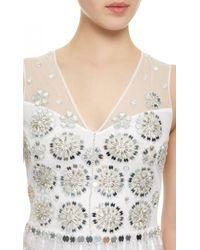 Temperley London - White Sleeveless Mirror Ball Dress - Lyst