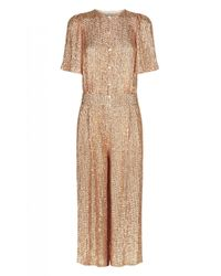 Temperley London - Metallic Cropped Olina Jumpsuit - Lyst