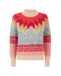 Temperley London | Pink Genisis Jacquard Knit Jumper | Lyst