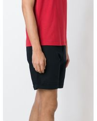 Emporio Armani - Blue Canvas Shorts for Men - Lyst