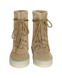Yeezy - Brown Womens Crepe Boots - Lyst