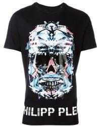 "Philipp Plein | Black ""cloud Lake"" T-shirt for Men | Lyst"