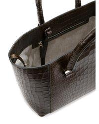 Victoria Beckham - Black Quincy Bag With Croco Print - Lyst