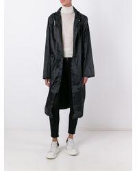 Gcds | Blue Raincoat With Logo | Lyst