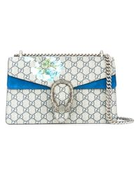 Gucci - Blue Dionysus Blooms GG Supreme Shoulder Bag - Lyst