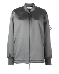 T By Alexander Wang | Gray Bomber | Lyst