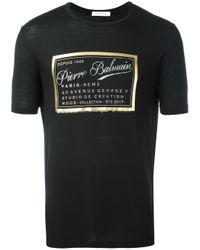 Balmain | Black Brand Print T-shirt for Men | Lyst