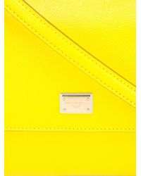 Dolce & Gabbana - Yellow Medium 'sicily' Tote - Lyst