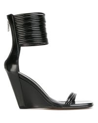 Rick Owens | Black Mignon Ankle-strap Wedge Sandals | Lyst