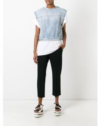 MM6 by Maison Martin Margiela - Black Cropped Trousers - Lyst