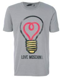 Love Moschino - Gray Light Bulb T-shirt for Men - Lyst