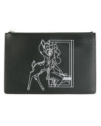 Givenchy | Black Bambi Print Clutch | Lyst