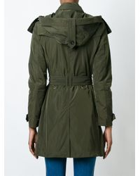 """Burberry - Green """"balmoral"""" Trench - Lyst"""