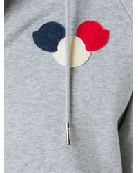 Moncler - Gray Hoodie for Men - Lyst