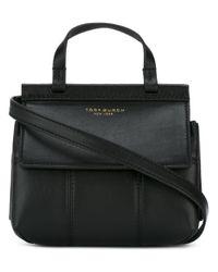 Tory Burch | Black Mini Block-t Bag | Lyst
