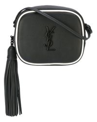 Saint Laurent | Black Monogram Blogger Leather Shoulder Bag | Lyst