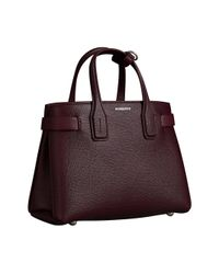 Burberry - Red Banner Small Leather Shoulder Bag - Lyst