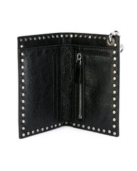 Valentino - Black Leather Wallet - Lyst