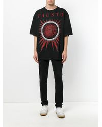 Fausto Puglisi - Black Logo Print T-shirt for Men - Lyst