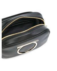 Ferragamo - Black Vela Leather Belt Bag - Lyst