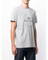 Paul Smith - Gray Cotton T-shirt for Men - Lyst