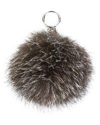 MICHAEL Michael Kors - Metallic Fox Fur Charm - Lyst