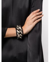 Givenchy - Metallic Infinity Leather Bracelet With Chain - Lyst