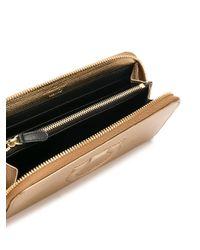 Ferragamo - Metallic Gancio City Leather Wallet - Lyst