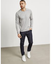 BOSS - Gray Mens Salbo Sweatshirt Grey for Men - Lyst