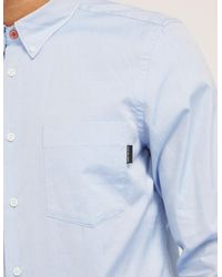 Paul Smith - Blue Oxford Long Sleeve Shirt for Men - Lyst