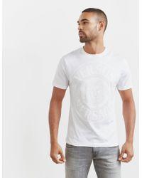 Versus  - Mens Lion Stamp Short Sleeve T-shirt White for Men - Lyst