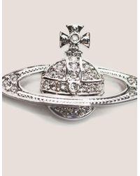 Vivienne Westwood - Metallic Womens Mini Bas Relief Pearl Bracelet Silver - Lyst