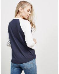 Tommy Hilfiger - Womens Three Quarter Sleeve T-shirt - Online Exclusive Blue - Lyst